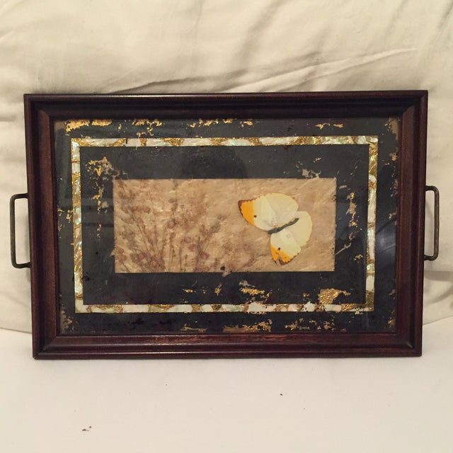 Pressed Butterfly and Gold Leaf Tray - Image 2 of 7