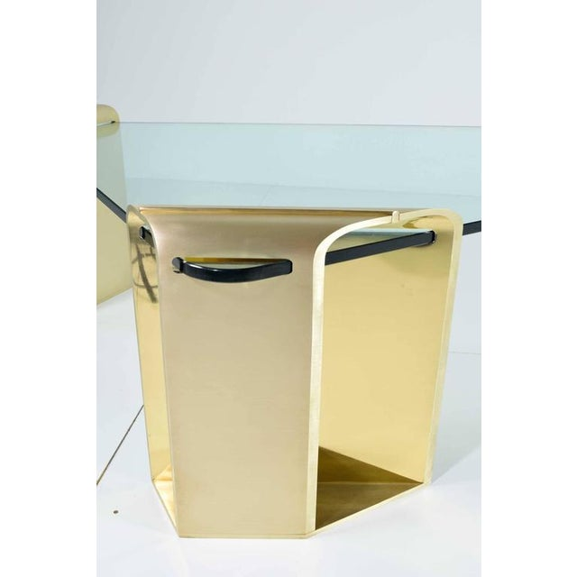 Large Stunning Solid Brass Cocktail Table by Lorin Marsh - Image 5 of 7