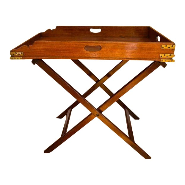 Antique Butler's Tray Table - Image 1 of 10