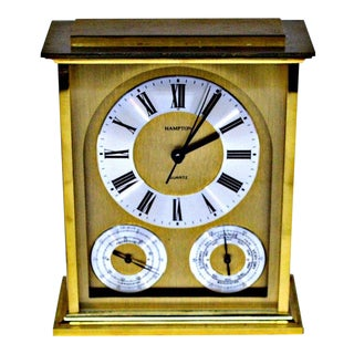 Hampton Quartz Brass Desk Clock