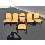 Image of William Switzer Embroidered Dining Chairs - S/6