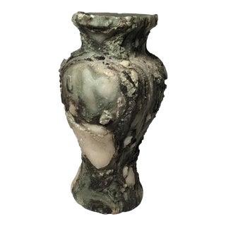 Textured Concrete Short Vase