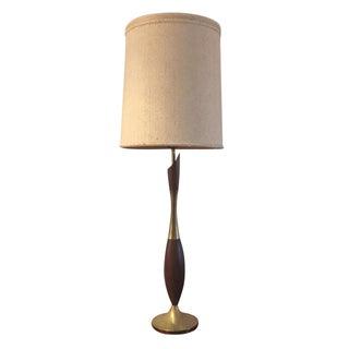 A Tony Paul Brass & Walnut Sculptural Lamp