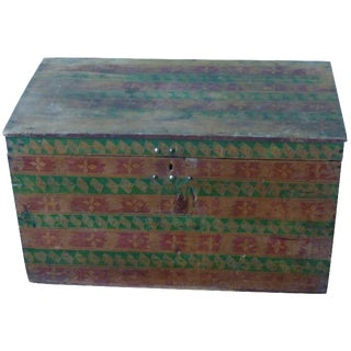Hand-Painted Guatemalan Trunk