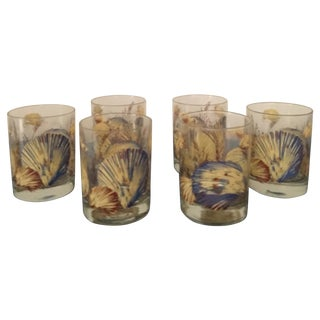 Vintage Shell Double Old Fashions - Set of 6