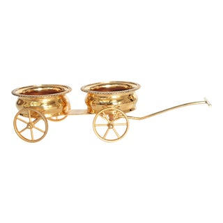 Gilt Bronze Wine Decanter Wagon Trolley