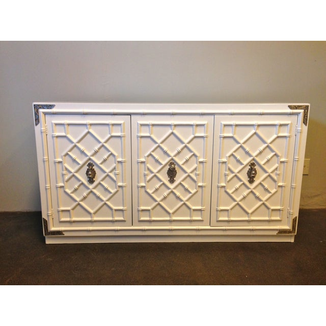 Thomasville Faux Bamboo Credenza - Image 2 of 8