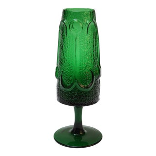 Stelvia Emerald Blown-Glass 'Antiqua' Vase designed by Wayne Husted
