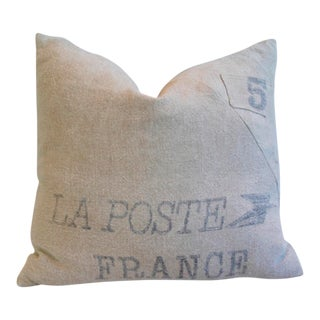 French La Poste Textile Sack/Bag Down & Feather Pillow