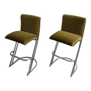 1970's Pierre Cardin Bar Stools - A Pair