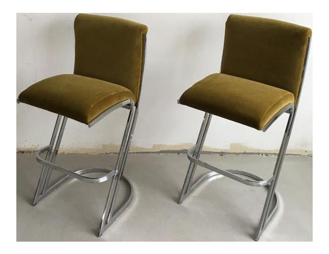 1970u0027s Pierre Cardin Bar Stools - A Pair  sc 1 st  Chairish & Vintage u0026 Used Bar Stools | Chairish islam-shia.org