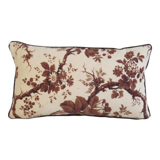 19th Century Floral Pillow