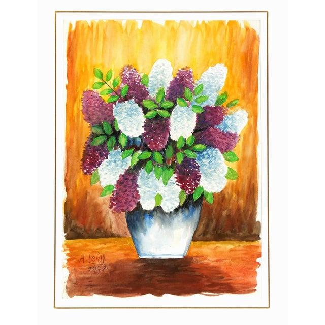 Albert Liedl Vintage 1978 Flowers Painting - Image 4 of 4