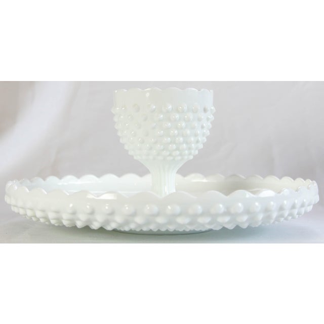 Fenton Hobnail Serving Dish and Cup - A Pair - Image 2 of 5