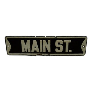 "Vintage Painted Metal Sign ""Main Street"", 1940"