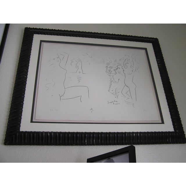 Vintage Dancing with the Devil Charcoal Drawing - Image 2 of 6