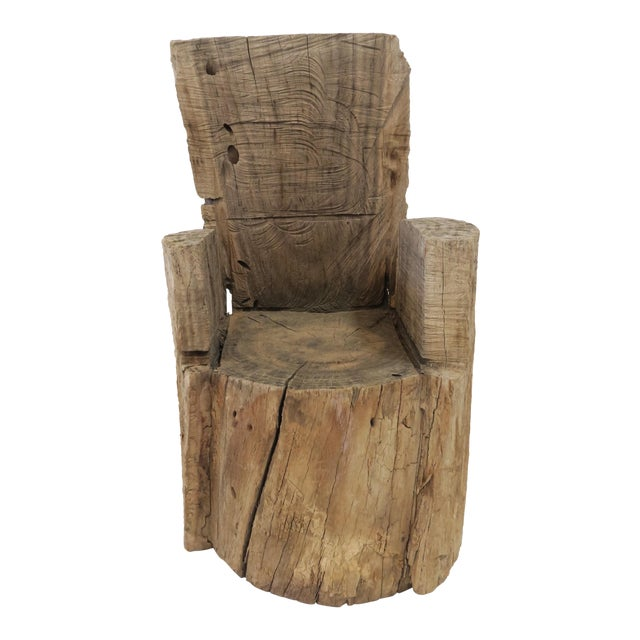 Childs Wood Stump Chair - Image 1 of 6