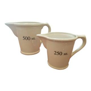Divertimenti Porcelain Pitchers - A Pair