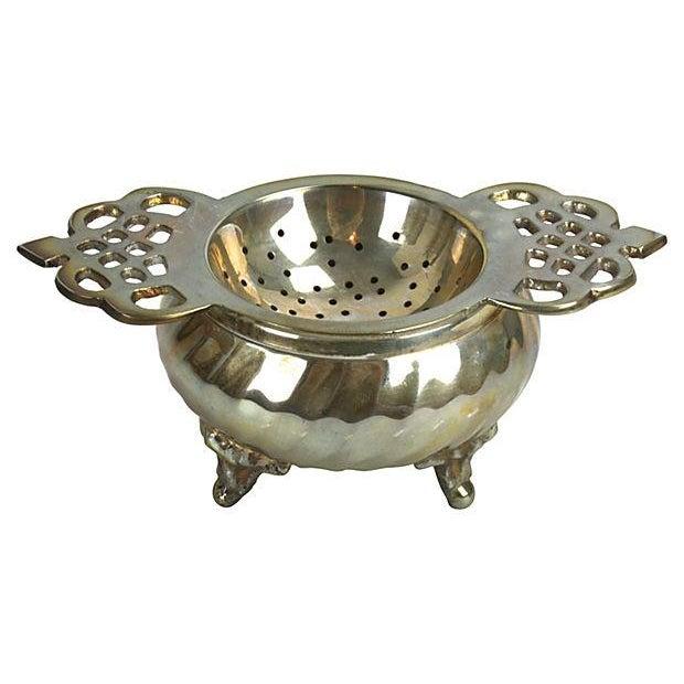 Silver Plate Loose-Leaf Tea Strainer - Image 1 of 3