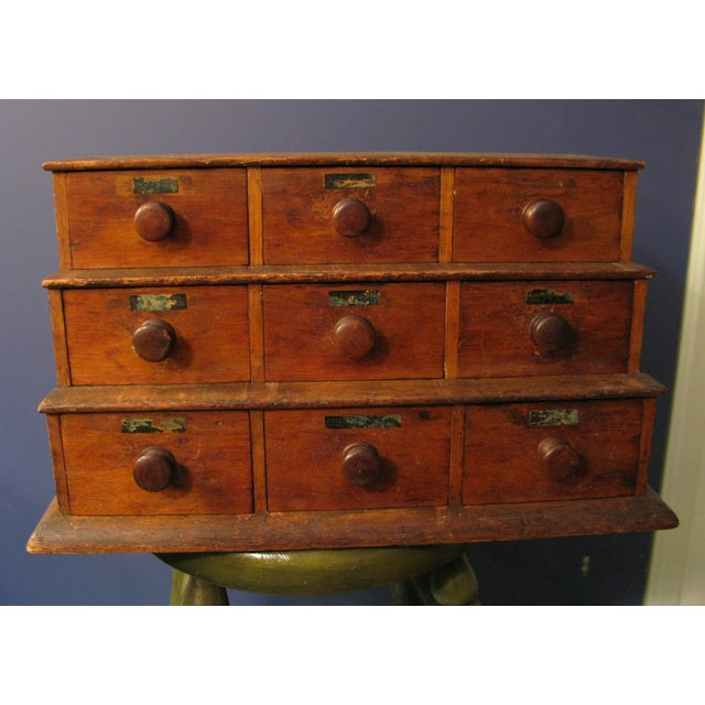Image of Early Original Graduated Apothecary Drawers