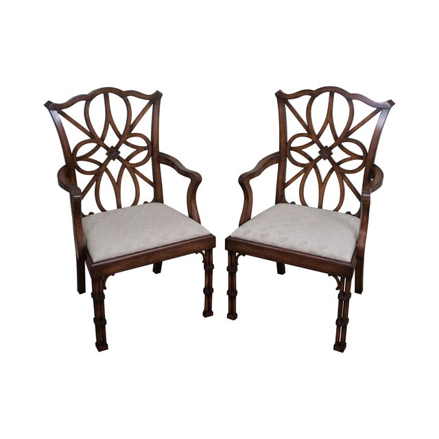 Image of Smith & Watson Regency Style Arm Chairs - Pair