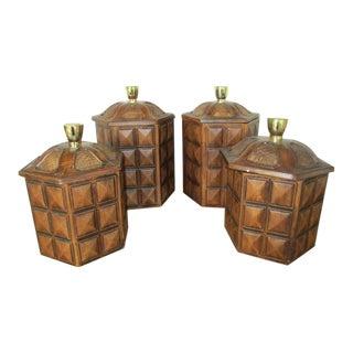 Vintage Ceramic Kitchen Canisters - Set of 4
