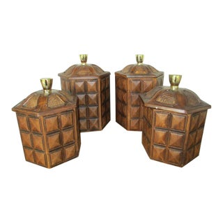 Vintage Ceramic Kitchen Canisters - Set of 4