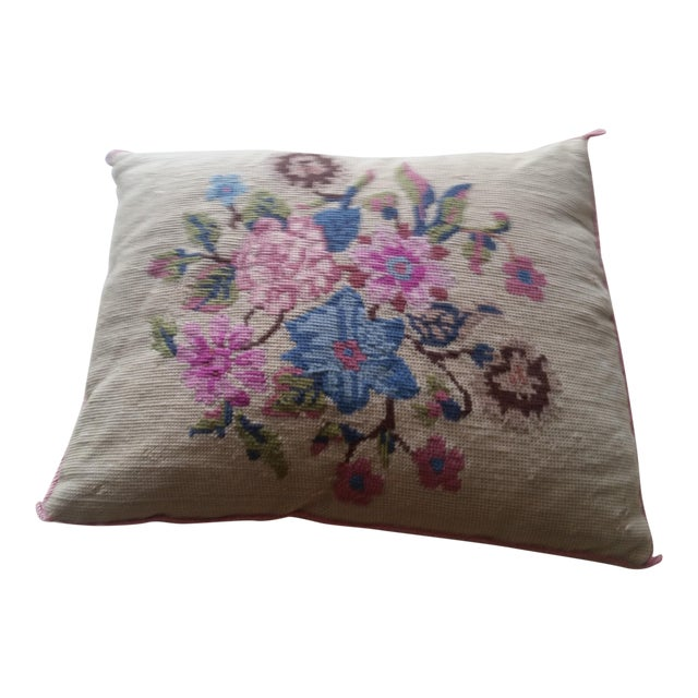 Vintage Needlepoint Pillow - Image 1 of 6