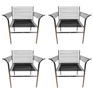 René Herbst Style Armchairs - Set of 4