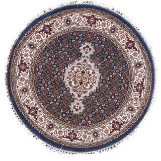 Persian Tabriz Style Round Rug- 3' x 3'