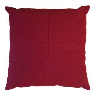 Madura Red Throw Pillow