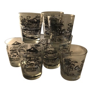 Vintage California Beach Cocktail Glasses- Set of 9