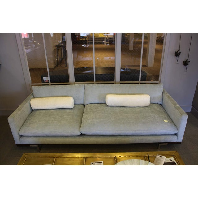 Bonn Blue/Gray Brushed Cotton Sofa & Pillows - Image 6 of 6