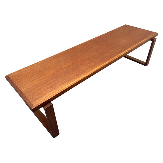 Scandinavian Teak Coffee Table: Danish Modern Teak Coffee Table
