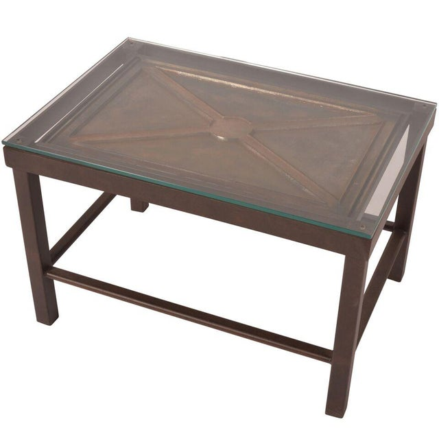 Reclaimed Iron Coffee Table - Image 1 of 5