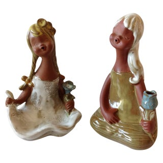 1960s Swedish Pottery Girls - A Pair