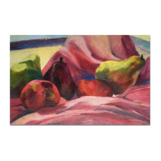 """Pink & Pears"" Canvas Painting by Kandi Cota"