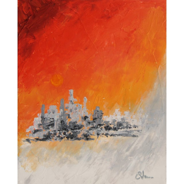 """Image of """"City on Ice"""" Painting by Celeste Plowden"""