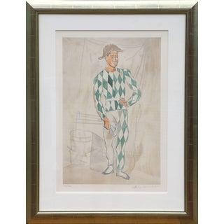 Pablo Picasso Estate Arlequin en Pied Lithograph