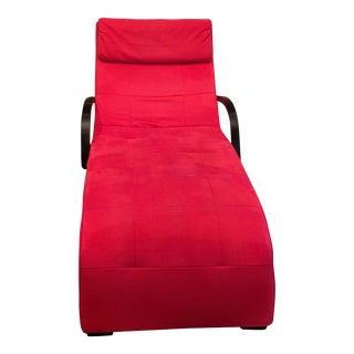 Modern Red Dania Lounge Chaise