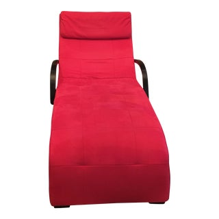 Modern Red Dania Lounge Chaise