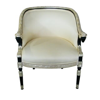 Egyptian Revival Giltwood Accent Armchair