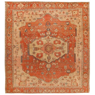 Exceptional Very Early Antique Persian Serapi Carpet