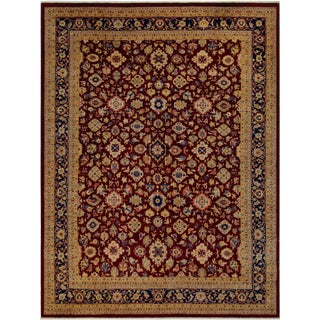 Kafkaz Peshawar Red & Blue Wool Rug - 9'0 X 12'2