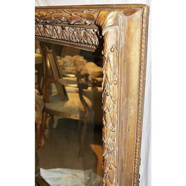 Antique Gilt Gesso Mirror - Image 6 of 7