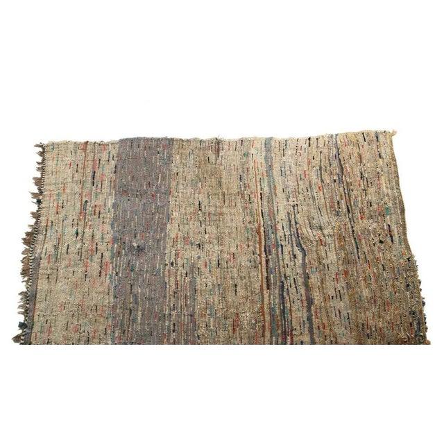 "Vintage Boucherouite Moroccan Carpet - 7' X 4'4"" - Image 3 of 4"