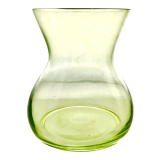 Green Depression Glass Vase