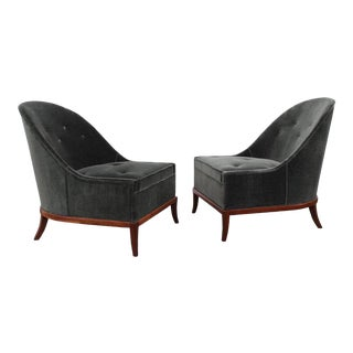 Pair of Slipper Chairs by T.H. Robsjohn-Gibbings for Widdicomb