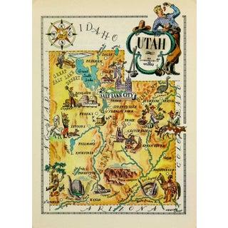 Vintage Utah Pictorial Map, 1946
