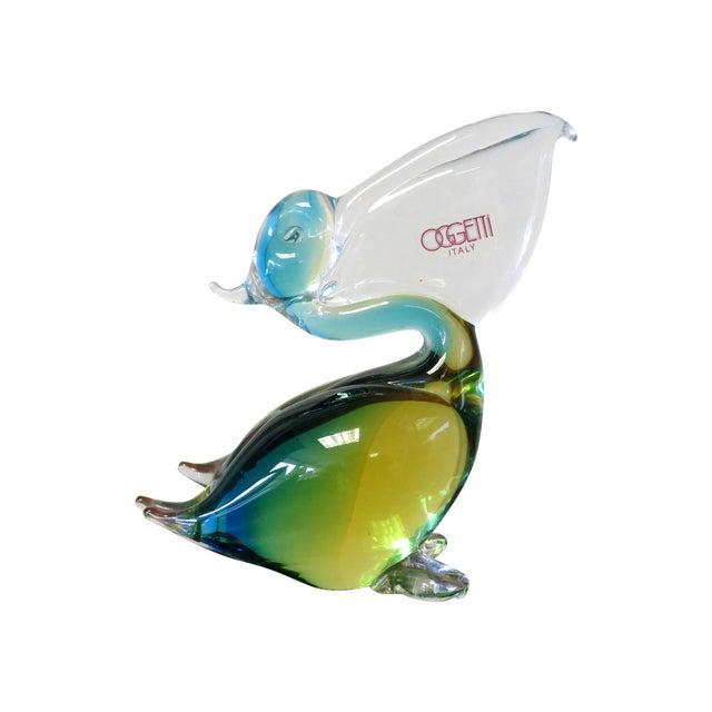 Image of Oggetti Italy Glass Pelican by Oscar Zanetti